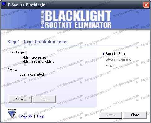 F-Secure BlackLight Rootkit Eliminator