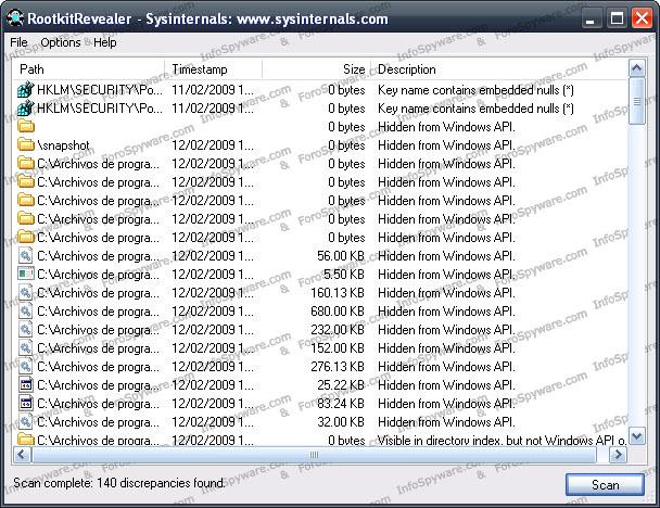 RootkitRevealer v1.71