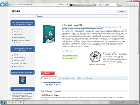 E-Set Antivirus 2011 Web
