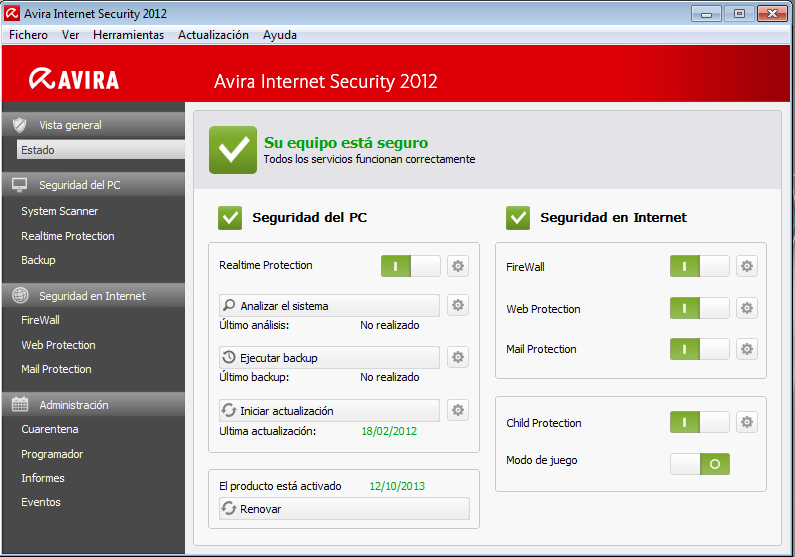 Avira Internet Security 2013 (Español)