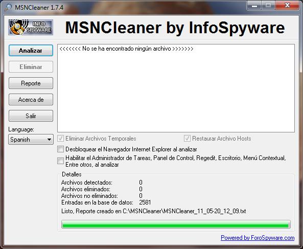 MSNCleaner 1.7.5