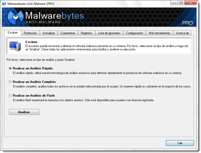 Malwarebytes Anti-Malware 1.75