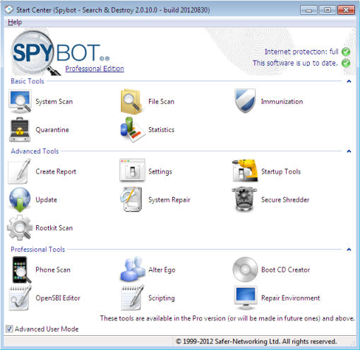 Spybot – Search & Destroy 2.1