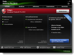 Panda Antivirus Pro 2012