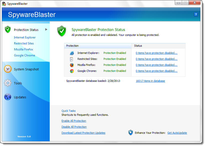 SpywareBlaster 5.0